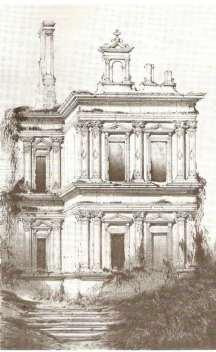 Le château de Chaumot, tel qu'il était en 1830 © D.R.
