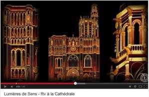 Magique! Sens, cathédrale de lumières (vidéo)