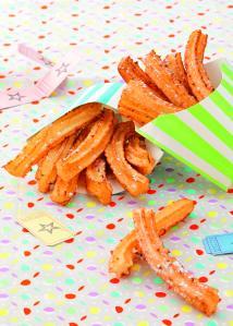 La recette de la foire. Mini churros à la fleur d'oranger