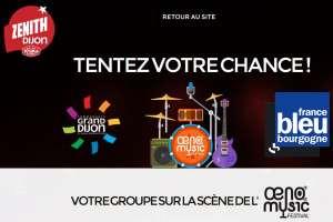 Tremplin: soyez sur la scène de l'Œno Music Festival!