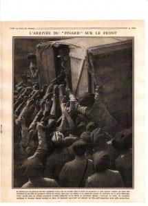 17- « L'arrivée du ''pinard'' sur le front »,  Le Pays de France, n°140, 21 juin 1917, p. 9.