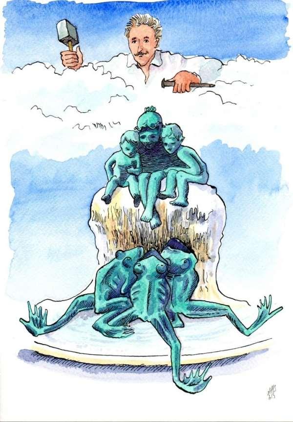 La fontaine aux grenouilles