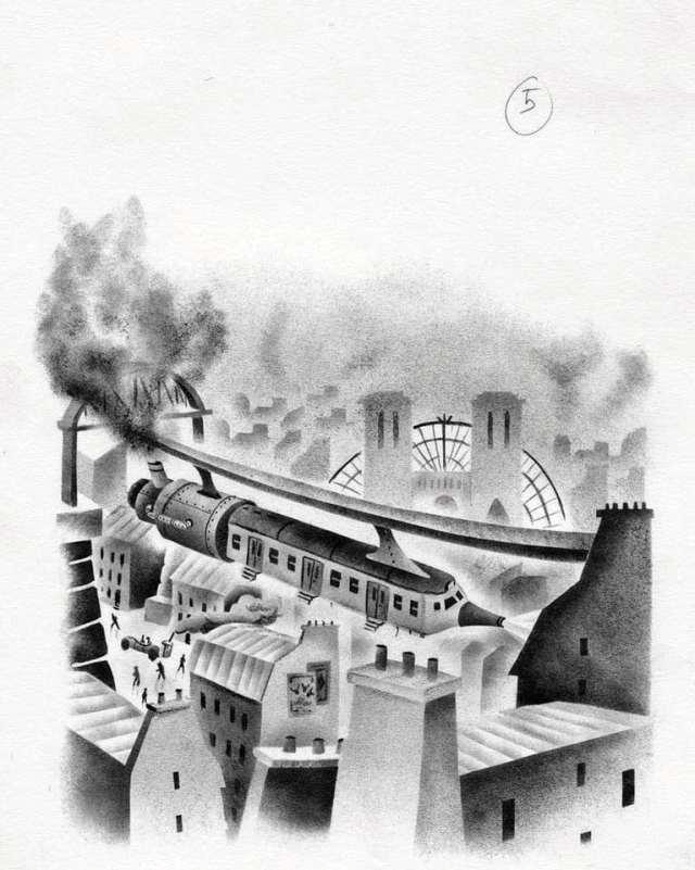 Entre feuilleton à la mode du XIXe siècle et roman fantastique, Lucie Pierrat-Pajot a su créer un monde rétrofuturiste captivant au fil des ruelles de Paris. Une ambiance parfaitement rendue par Donatien Mary, qui signe les dessins d'ouverture de chapitre dans le goût steampunk (ci-dessous), ainsi que la couverture, dont l'esthétique rappelle celle des anciennes éditions de Jules Verne