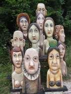 Photo-de-famille-(fin-des-années-1990),-bois,-35-à-75-cm,-collection-particulière-non-sourcée