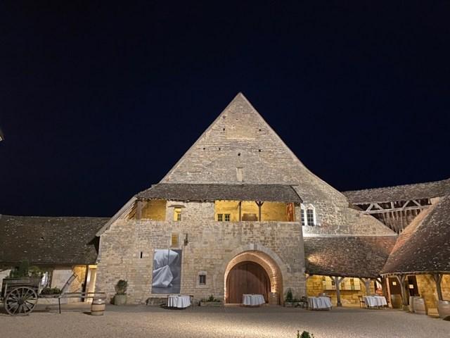 Le château du Clos de Vougeot de nuit