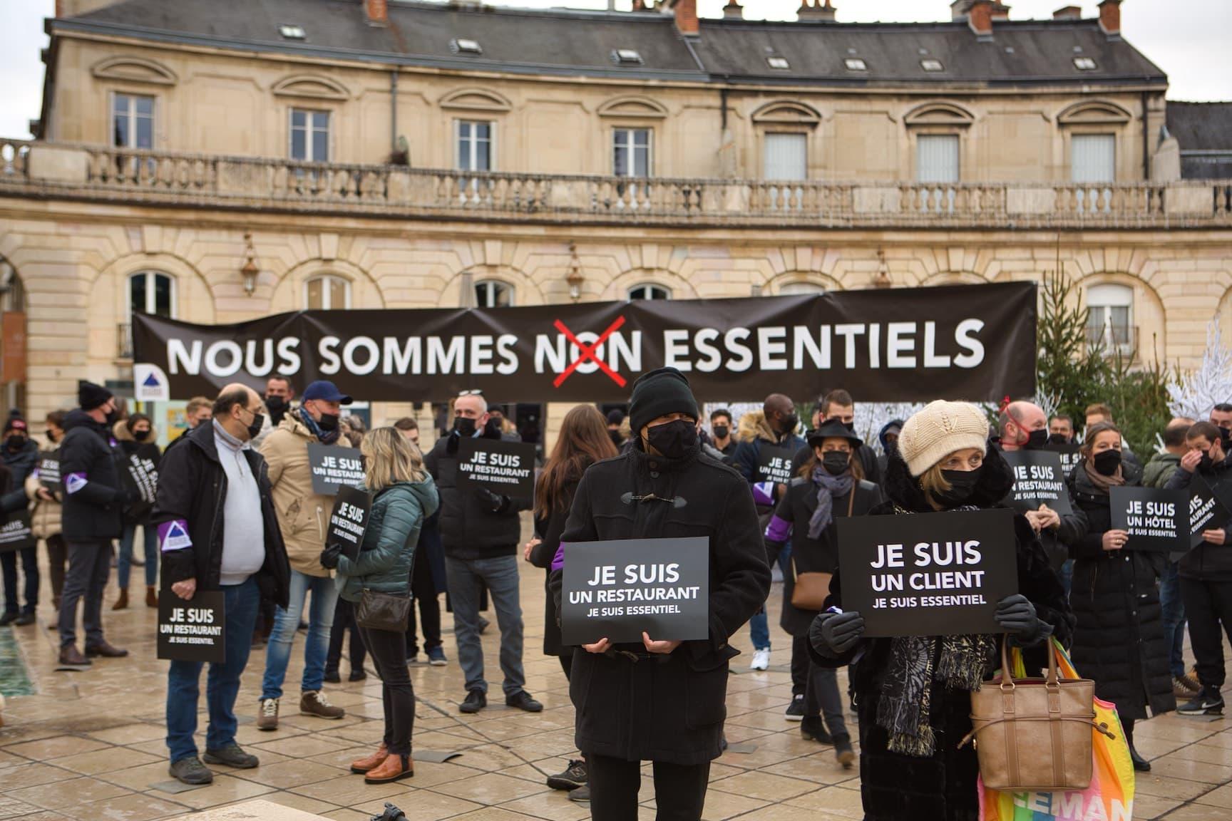 Manifestation de l'UMIH 21, © Arnaud Morel