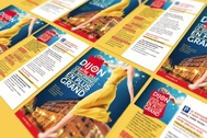 """Déclinée en affiches et annonces presse, la campagne de la Ville sur le thème """"Dijon centre ville, le shopping est plus grand""""."""