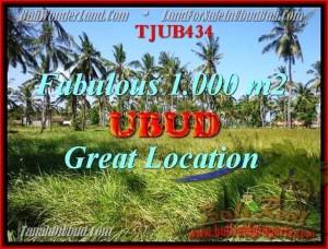 JUAL TANAH MURAH di UBUD 1,000 m2  View kebun