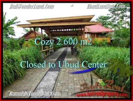 TANAH JUAL MURAH  UBUD BALI 2,600 m2  di Lingkungan Villa
