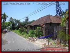 TANAH di UBUD BALI DIJUAL 600 m2 View sawah link villa