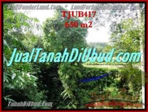 TANAH di UBUD DIJUAL 650 m2 di Sentral Ubud
