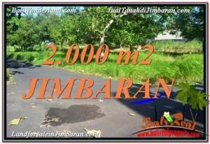 TANAH MURAH di JIMBARAN 2,000 m2 View Laut dan Jalan Tol