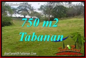 JUAL TANAH MURAH di TABANAN 750 m2 View laut dan sawah
