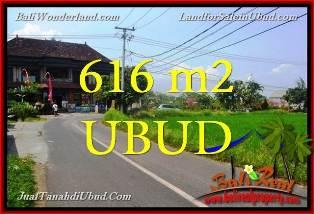 TANAH MURAH di UBUD BALI 616 m2 View Sawah di Sentral Ubud TJUB650
