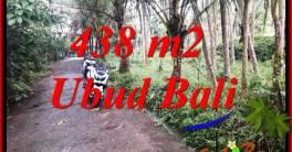 JUAL Tanah di Ubud 438 m2 View kebun, lingkungan Villa