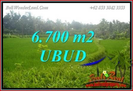 Tanah di Ubud Bali Dijual Murah 6,700 m2 di Ubud Tegalalang