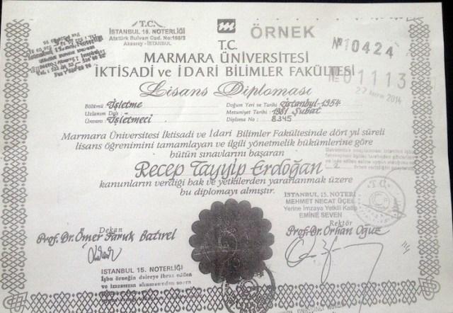 Картинки по запросу erdogan diploma