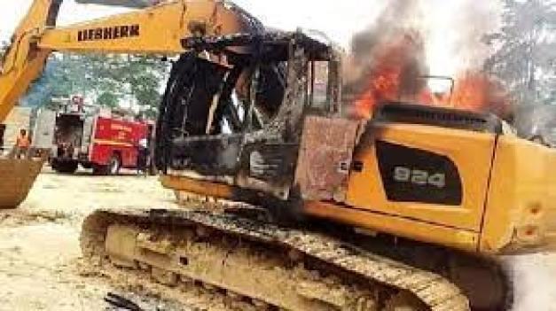 Military task force burnt ..
