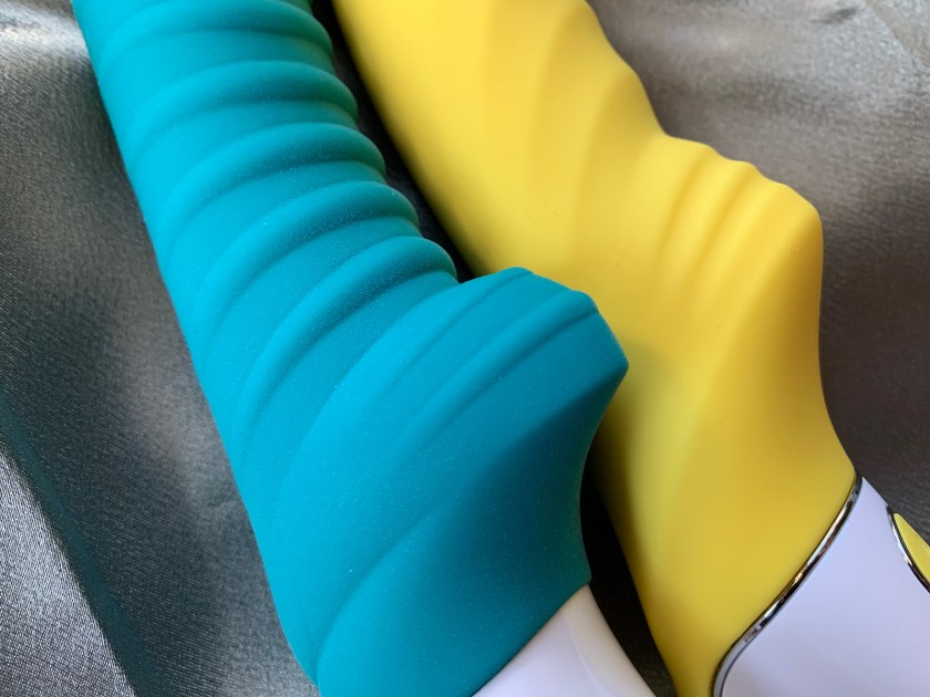 Close up of the nubs on the Fun Factory Tiger and Satisfyer Yummy Sunshine