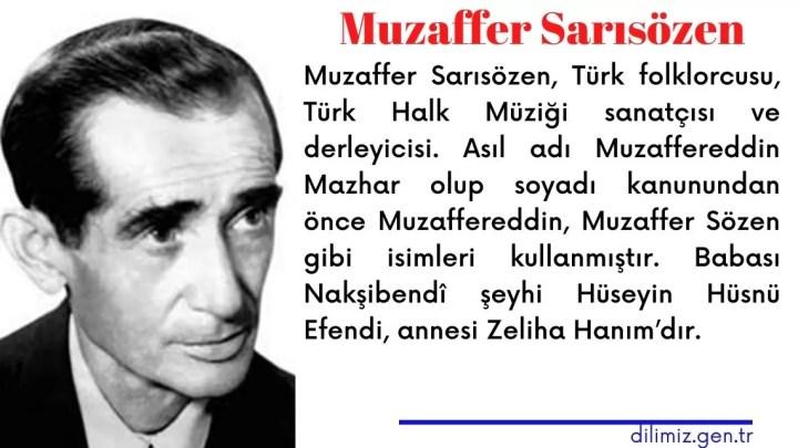 Muzaffer Sarısözen Kimdir? Hayatı ve Biyografisi