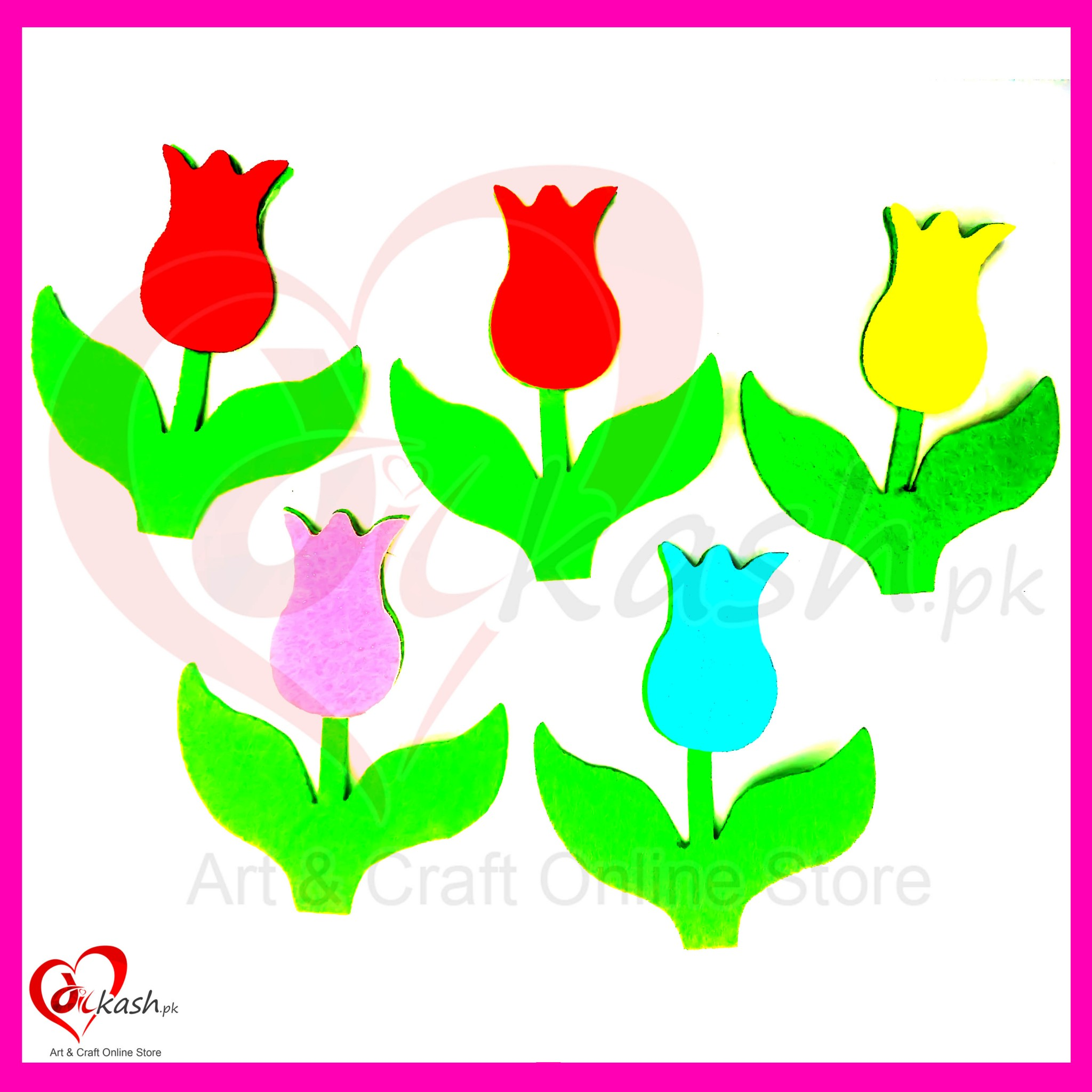felt fabric cut outs shapes flowers art craft online store