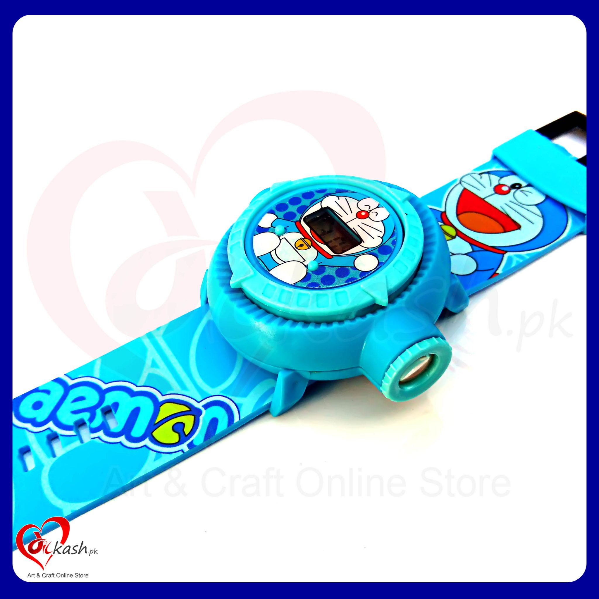 Kids Watches with Inbuilt 10 Projector Images of Doraemon NO.ZL8510DD