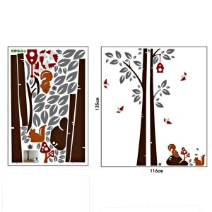 Wall Decor Stickers - Animal Squirrel Wall Stickers - JM7123