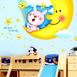 Wall Decor Stickers - Children Bedroom Cartoon Wall Stickers - XY-1130