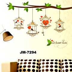 Wall Decor Stickers - Lovely Birdcage Wall Stickers - JM7294