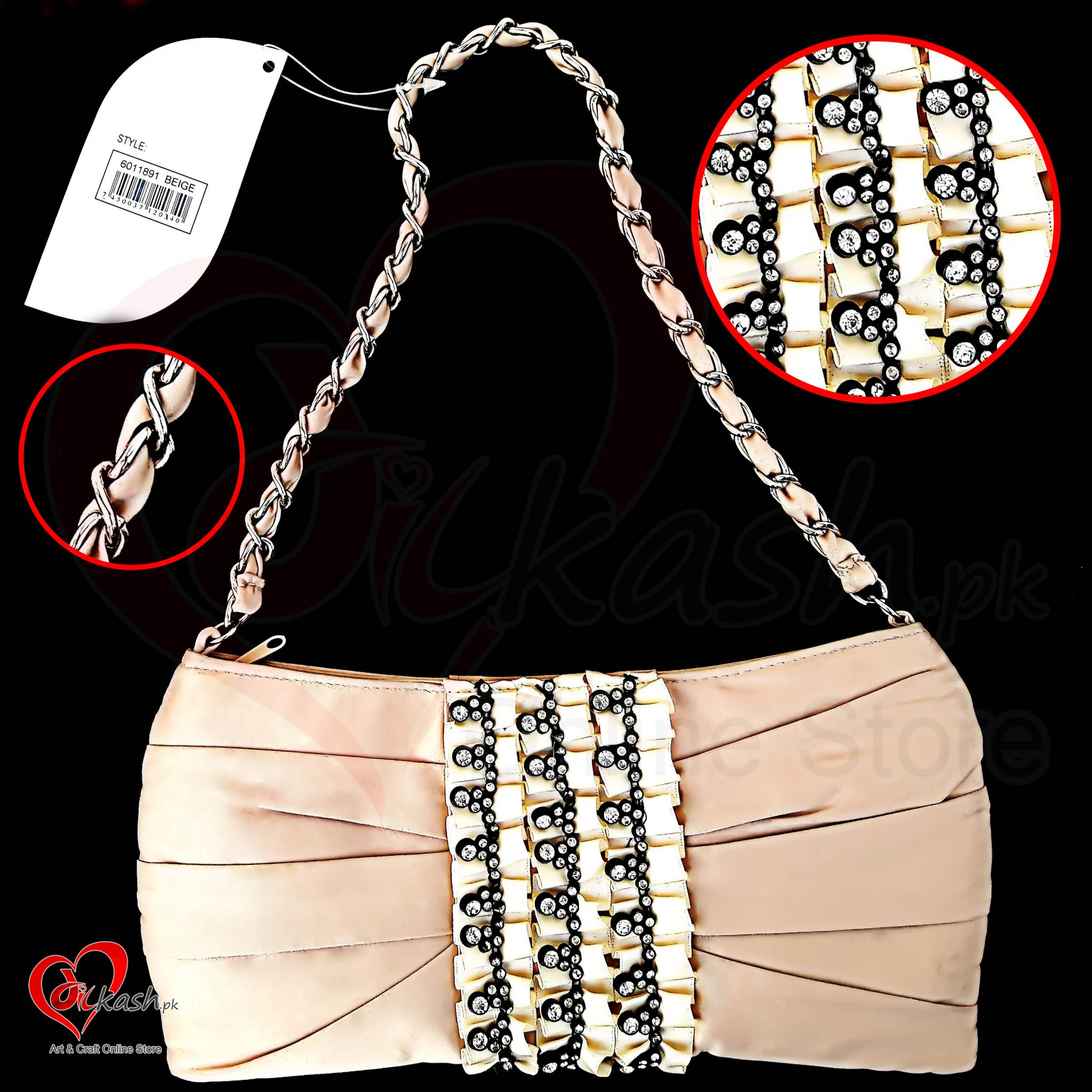 Clutch Purse Ladies Handbags - 100% Polyester