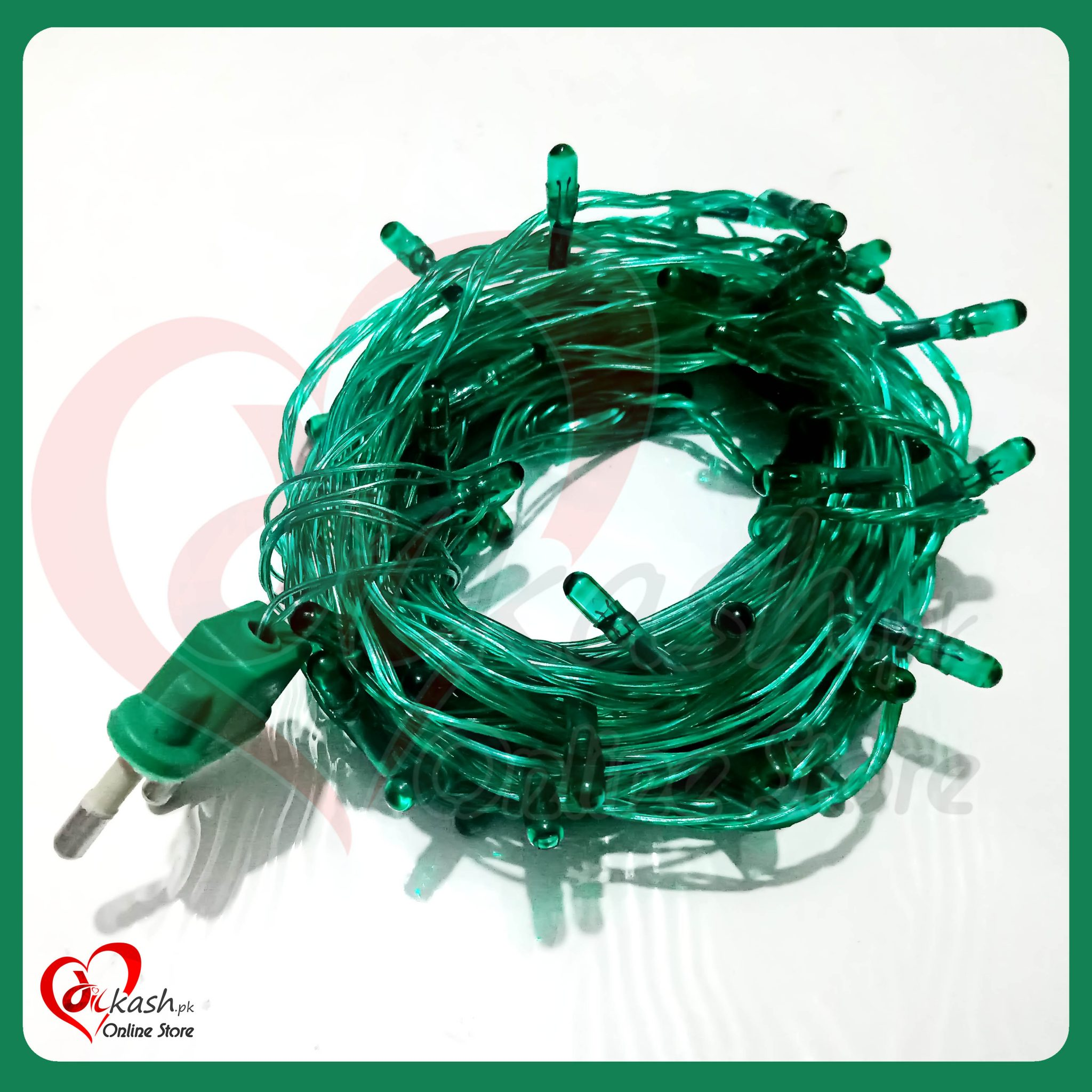 Fairy Lights Decoration LED Still - Christmas Lights - 25 Feet Long - Green