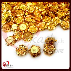 Fancy Buttons Online for Sale - Small Chrome Gold Buttons