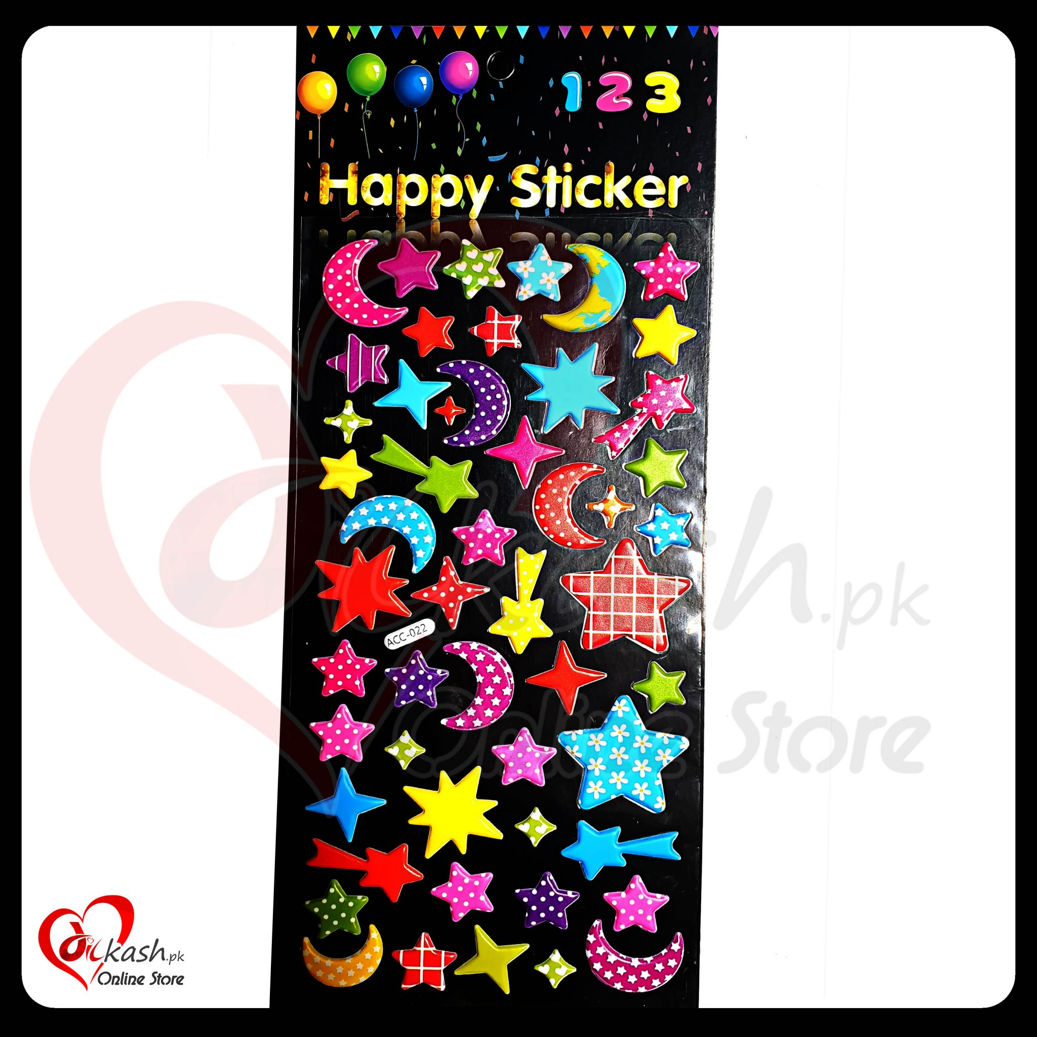 Stickers Online - Stars Happy Sticker - ACC-022