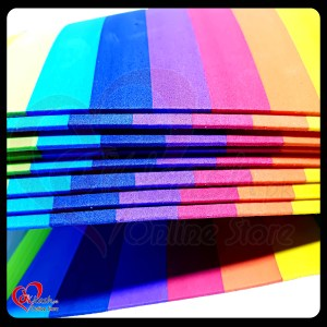 Rainbow Colors Fomic Sheet A4 - Rainbow Foamic Sheet