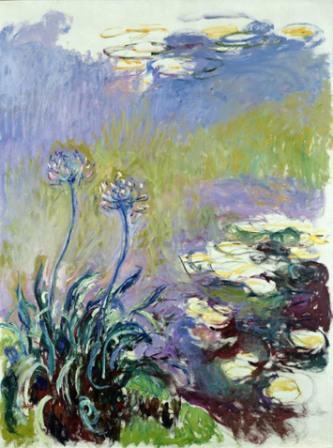 Claude Monet  Les agapanthes, 1914-1917  Huile sur toile, 200 x 150 cm  Paris, Musée Marmottan Monet (Inv. 5121)  Rif. Bridgeman MMT 154664
