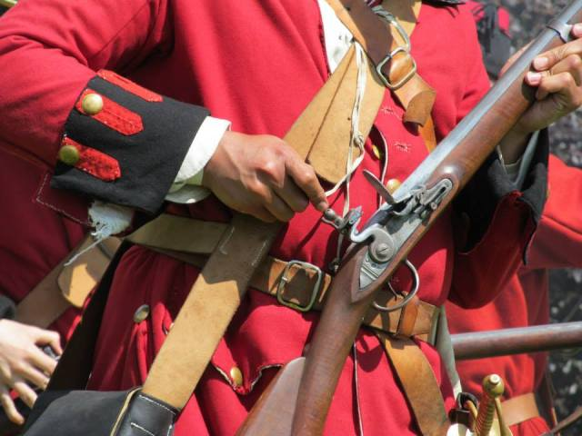 Loading a Musket