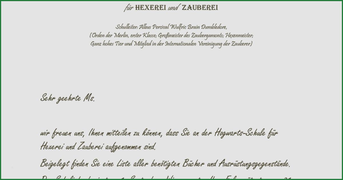 wunderbar hogwarts brief vorlage
