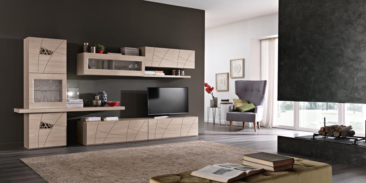 Pareti attrezzate componibili classiche e moderne per il soggiorno,. Pareti Attrezzate Moderne Arredamenti Di Lorenzo Napoli