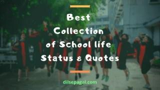 School Life Status - School Life Quotes