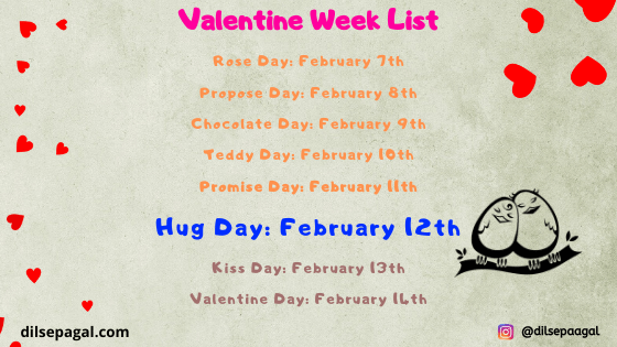 hug day valentine week - when is hug day