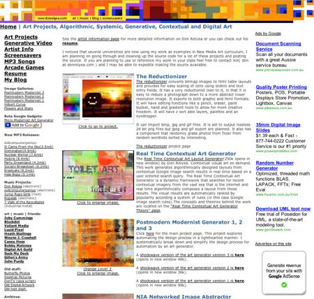 Don Relyea Web Site Award