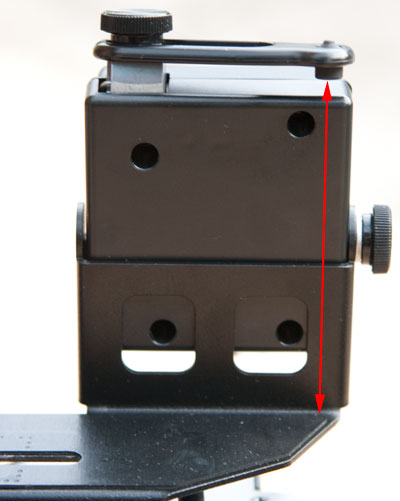 Camera height limited by shutter mechanism adjustment
