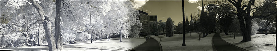 Panorama photography from Fitzroy Gardens