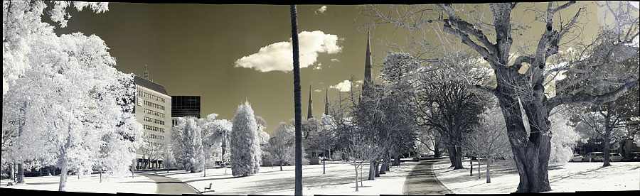 Infrared panorama shot with a Gigapan Epic
