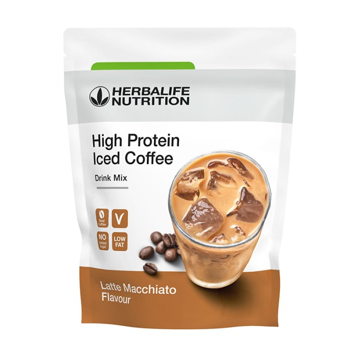 Herbalife high protein iced coffee gusto latte macchiato