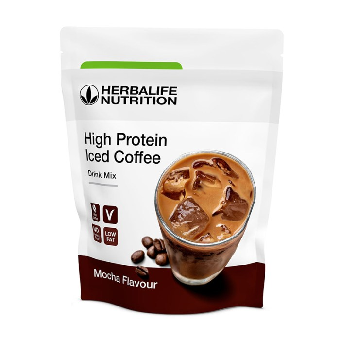 Herbalife high protein iced coffee gusto mocha