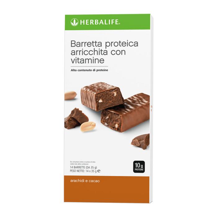 Herbalife barrette proteiche arachide e cacao