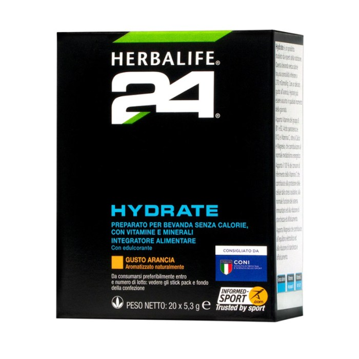 Herbalife24 Hydrate gusto Arancia 20 bustine
