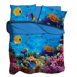 Lenzuola digitale I love sleeping Coral