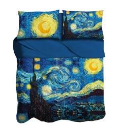 Completo lenzuola la notte stellata i Love Sleeping digitale 3D
